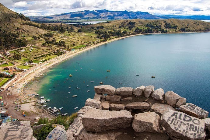 Copacabana en Bolivie sur les rives du lac Titicaca