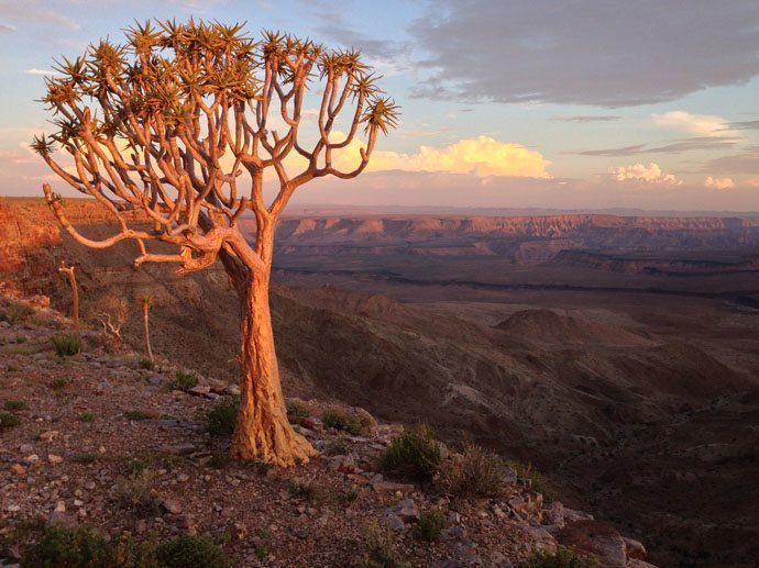 Coucher de soleil au Fish River Canyon