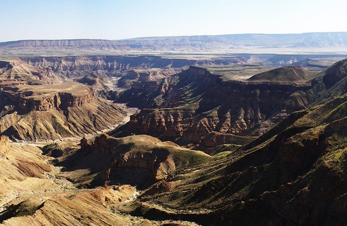 Vue panoramique du Fish River Canyon en Namibie