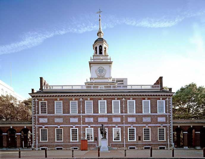 L'Independance Hall en Philadelphie