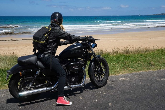 moto sur la great ocean road