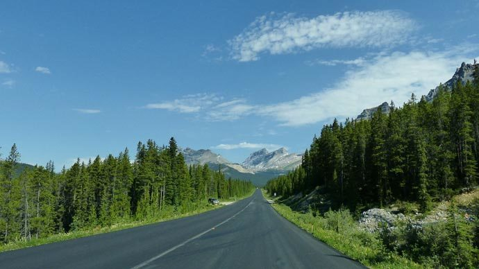 Icefield parkway au Canada