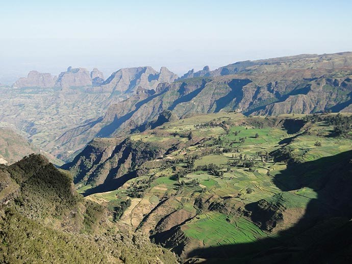 Panorama du parc national du Simien