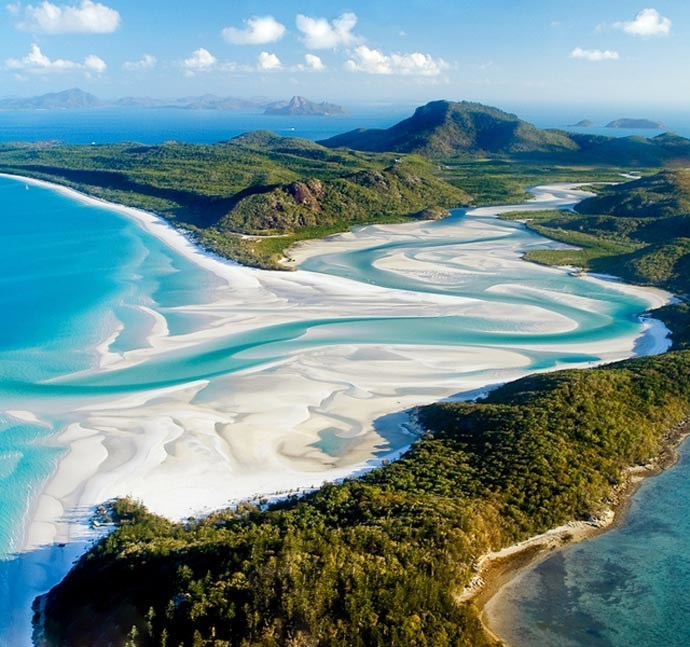 Vue aérienne de Whitsunday Islands